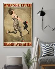 Girl And Her Cat 11x17 Poster lifestyle-poster-1