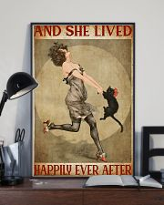 Girl And Her Cat 11x17 Poster lifestyle-poster-2