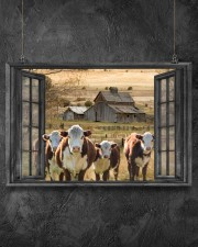 Hereford cattle 24x16 Poster aos-poster-landscape-24x16-lifestyle-13