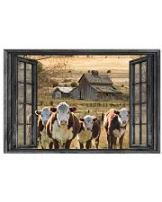 Hereford cattle 24x16 Poster front