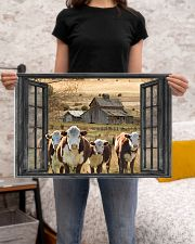 Hereford cattle 24x16 Poster poster-landscape-24x16-lifestyle-20