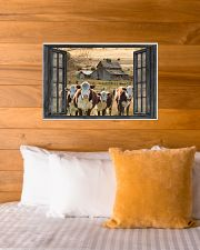 Hereford cattle 24x16 Poster poster-landscape-24x16-lifestyle-27