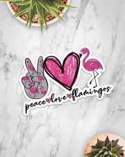 Peace Love Flamingo Sticker - Single (Horizontal) aos-sticker-single-horizontal-lifestyle-front-06