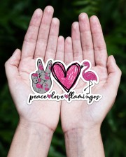 Peace Love Flamingo Sticker - Single (Horizontal) aos-sticker-single-horizontal-lifestyle-front-20