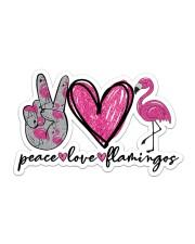 Peace Love Flamingo Sticker - Single (Horizontal) front