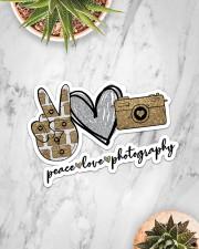 Peace Love Photography Sticker - Single (Horizontal) aos-sticker-single-horizontal-lifestyle-front-06