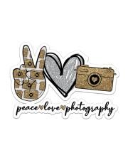 Peace Love Photography Sticker - Single (Horizontal) front