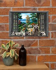 Raccoon 17x11 Poster poster-landscape-17x11-lifestyle-23