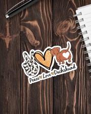 Peace love dachshund Sticker - Single (Vertical) aos-sticker-single-vertical-lifestyle-front-05