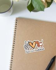 Peace love dachshund Sticker - Single (Vertical) aos-sticker-single-vertical-lifestyle-front-16