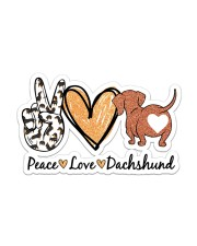 Peace love dachshund Sticker - Single (Vertical) front