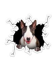 English Bull Terrier Crack Sticker - Single (Vertical) front