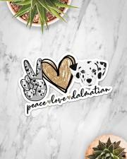 peace love dalmatian Sticker - Single (Horizontal) aos-sticker-single-horizontal-lifestyle-front-06