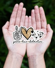 peace love dalmatian Sticker - Single (Horizontal) aos-sticker-single-horizontal-lifestyle-front-20