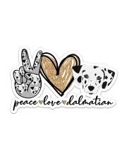 peace love dalmatian Sticker - Single (Horizontal) front
