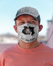 Not Today Heifer Crack Cloth face mask aos-face-mask-lifestyle-06