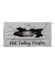 Not Today Heifer Crack Cloth face mask front