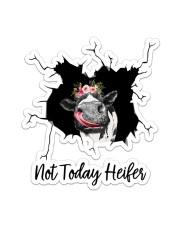 Not Today Heifer Crack Sticker tile