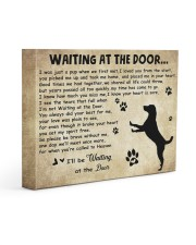 Dogs will be waiting at the door 14x11 Gallery Wrapped Canvas Prints front