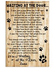 Personalized Dog waiting at the door 11x17 Poster front