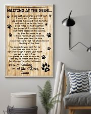 Personalized Dog waiting at the door 11x17 Poster lifestyle-poster-1