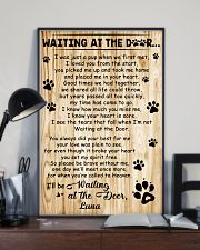 Personalized Dog waiting at the door 11x17 Poster lifestyle-poster-2