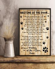 Personalized Dog waiting at the door 11x17 Poster lifestyle-poster-3