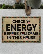 "Check your energy Doormat 22.5"" x 15""  aos-doormat-22-5x15-lifestyle-front-01"