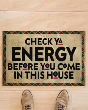 "Check your energy Doormat 22.5"" x 15""  aos-doormat-22-5x15-lifestyle-front-02"