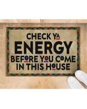 "Check your energy Doormat 22.5"" x 15""  aos-doormat-22-5x15-lifestyle-front-05"