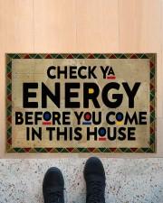 "Check your energy Doormat 22.5"" x 15""  aos-doormat-22-5x15-lifestyle-front-10"