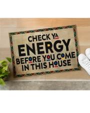 "Check your energy Doormat 22.5"" x 15""  aos-doormat-22-5x15-lifestyle-front-11"