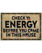 """Check your energy Doormat 22.5"""" x 15""""  front"""