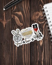 Peace love collie Sticker - Single (Vertical) aos-sticker-single-vertical-lifestyle-front-05