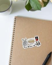 Peace love collie Sticker - Single (Vertical) aos-sticker-single-vertical-lifestyle-front-16