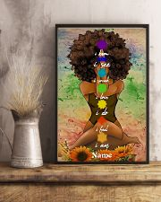 Meditation black queen 16x24 Poster lifestyle-poster-3