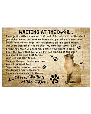 Cat I'll Be Waiting At The Door 17x11 Poster front