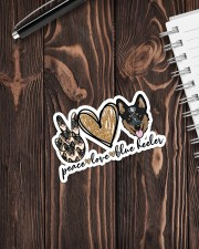 Peave love blue heeler Sticker - Single (Vertical) aos-sticker-single-vertical-lifestyle-front-05