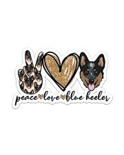 Peave love blue heeler Sticker - Single (Vertical) front