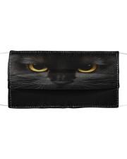 Black Cat Cloth face mask front