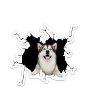 Husky Crack Sticker - Single (Vertical) front