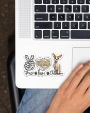 peace love chihuahua Sticker - Single (Horizontal) aos-sticker-single-horizontal-lifestyle-front-11