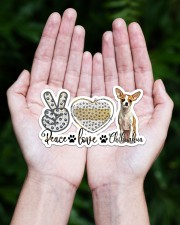 peace love chihuahua Sticker - Single (Horizontal) aos-sticker-single-horizontal-lifestyle-front-20