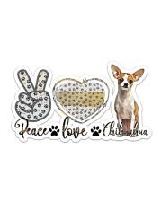 peace love chihuahua Sticker - Single (Horizontal) front