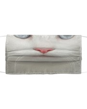 White Cat Cloth face mask front