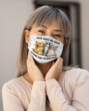 Cats Make Me Happy Cloth face mask aos-face-mask-lifestyle-17