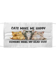 Cats Make Me Happy Cloth face mask front