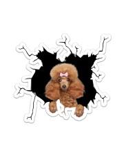 Poodle Crack Sticker - Single (Vertical) front