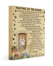 Cat will be waiting at the door - Beige color 11x14 Gallery Wrapped Canvas Prints front