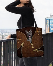 French Bulldog All-over Tote aos-all-over-tote-lifestyle-front-05